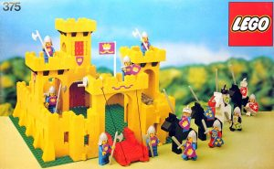 """The 1978 """"Castle"""" set was the first from LEGO to include weapons for minifigures; these included a sword, halberd, and lance."""
